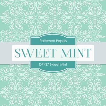 Digital Papers - Sweet Mint (DP437)