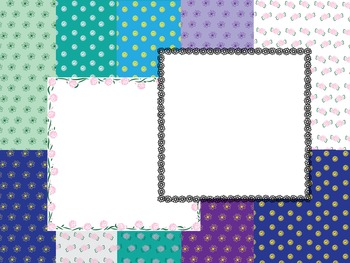 Digital Papers and Frames-Swirls and Flowers
