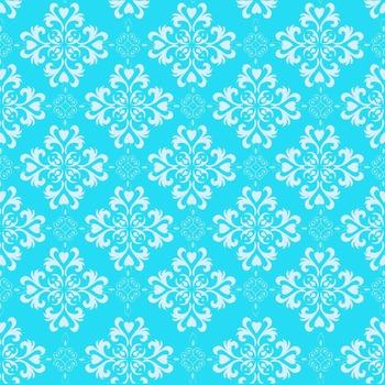 Digital Papers - Teal Floral (DP1770)