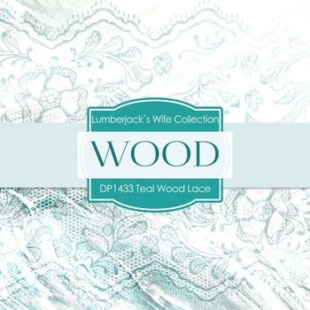 Digital Papers - Teal Wood Lace (DP1433)
