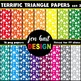 Digital Papers  {Terrific Triangles BUNDLE}