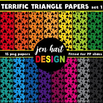 Digital Papers  {Terrific Triangles set 1}