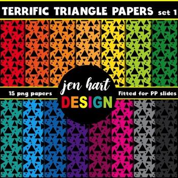 Digital Papers  {Terrific Triangles set 1}