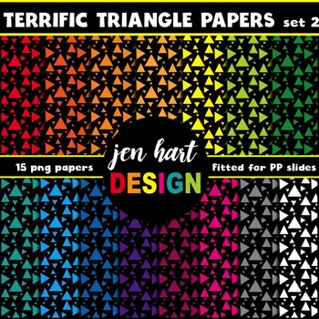 Digital Papers  {Terrific Triangles set 2}