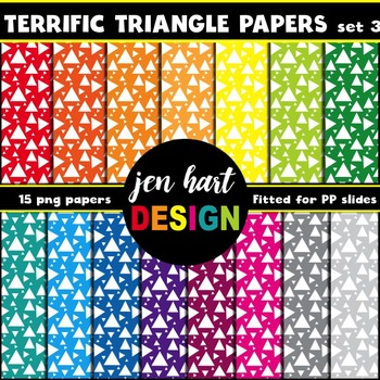 Digital Papers  {Terrific Triangles set 3}