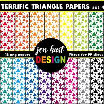 Digital Papers  {Terrific Triangles set 4}