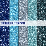 Digital Papers ~The Blues~ Glitter Paper {Ink n Little Things}