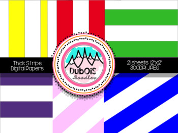 Digital Papers: Thick Stripes