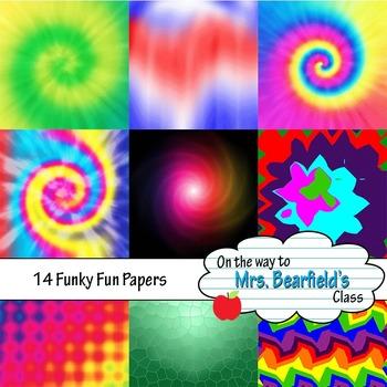 Tie Dye and Variety Digital Papers