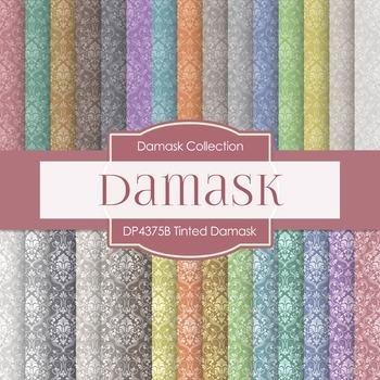 Digital Papers - Tinted Damask (DP4375B)