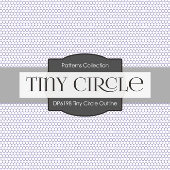 Digital Papers - Tiny Circle Outline (DP6198)