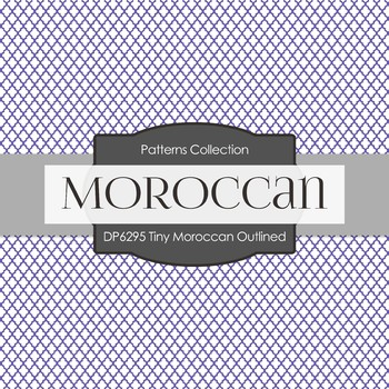 Digital Papers - Tiny Moroccan Outlined (DP6295)