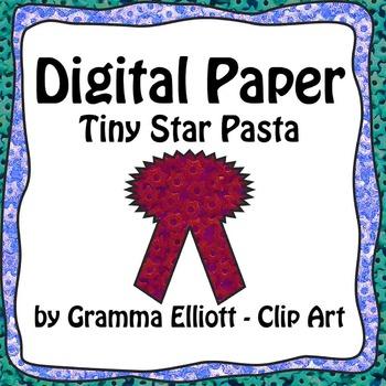 Digital Papers - Tiny Star Pasta - 19 colors - 300 DPi - 12x12