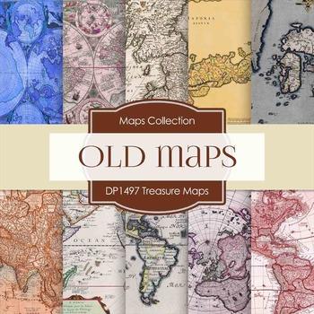 Digital Papers -  Treasure Maps (DP1497)