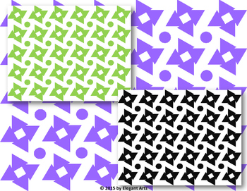 Digital Papers - Triangle with Square Background