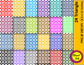 Digital Papers - Triangle with White Background.