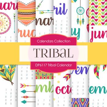 Digital Papers - Tribal Calendar (DP6117)