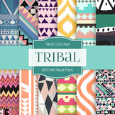 Digital Papers - Tribal Prints (DP2140)