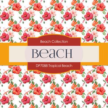 Digital Papers - Tropical Beach (DP7088)