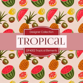 Digital Papers - Tropical Elements (DP4002)