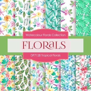 Digital Papers - Tropical Florals (DP7128)