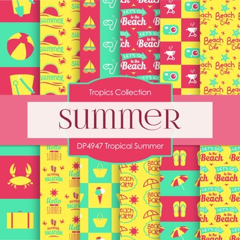 Digital Papers - Tropical Summer (DP4947)
