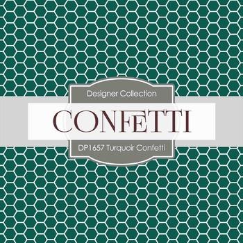 Digital Papers - Turquoir Confetti (DP1657)