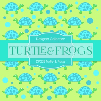 Digital Papers - Turtle And Frogs (DP228)