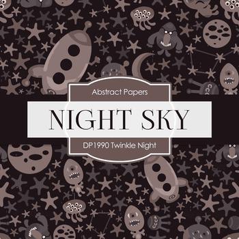 Digital Papers - Twinkle Night (DP1990)