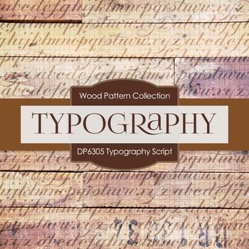 Digital Papers - Typography Script (DP6305)