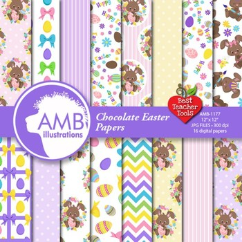 Digital Papers Easter Bunny {Best Teacher Tools} AMB-1177