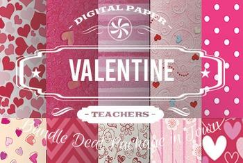 Digital Papers - Valentine Patterns Bundle Deal
