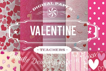 Digital Papers - Valentine Patterns Bundle Deal