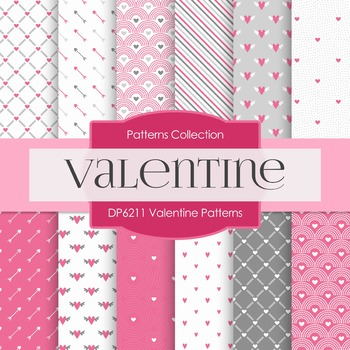 Digital Papers - Valentine Patterns (DP6211)