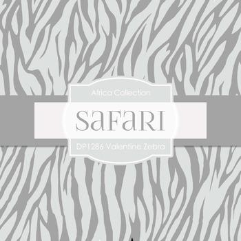Digital Papers - Valentine Zebra (DP1286)