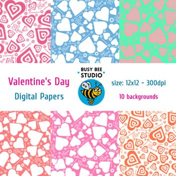 Digital Papers: Valentine's Day