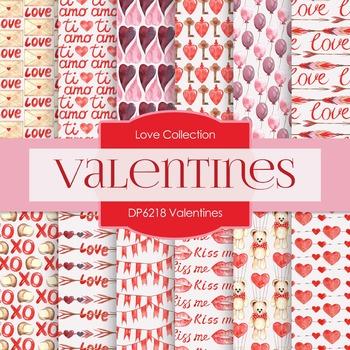 Digital Papers - Valentines (DP6218)
