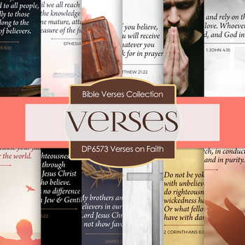 Digital Papers - Verses On Faith (DP6573)