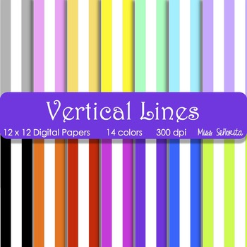 Digital Papers - Vertical Lines