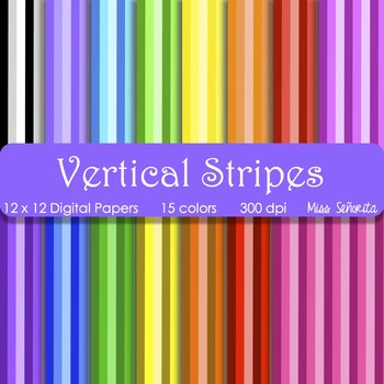 Digital Papers - Vertical Stripes