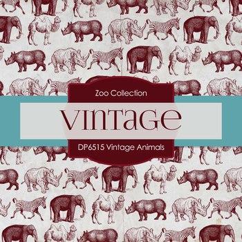 Digital Papers - Vintage Animals (DP6515)