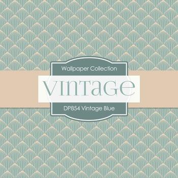 Digital Papers - Vintage Blue (DP854)