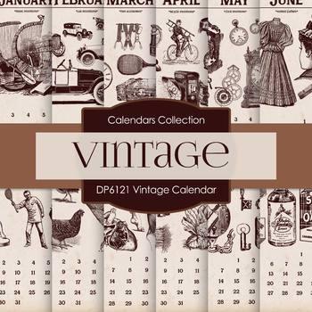 Digital Papers - Vintage Calendar (DP6121)