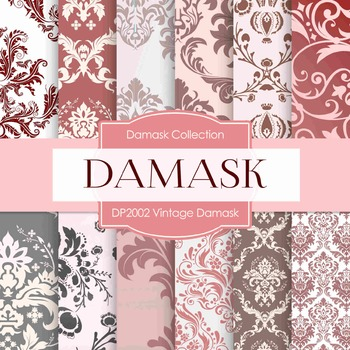 Digital Papers - Vintage Damask (DP2002)