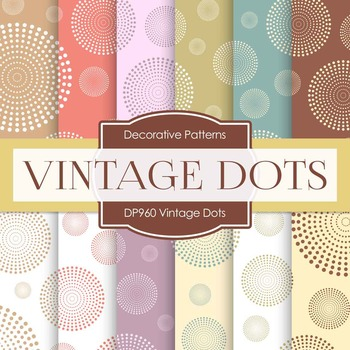 Digital Papers - Vintage Dots (DP960)