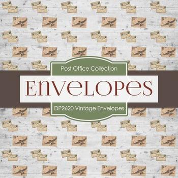 Digital Papers - Vintage Envelopes (DP2620)