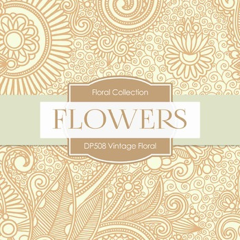 Digital Papers - Vintage Floral (DP508)