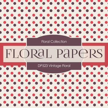 Digital Papers - Vintage Floral (DP523)