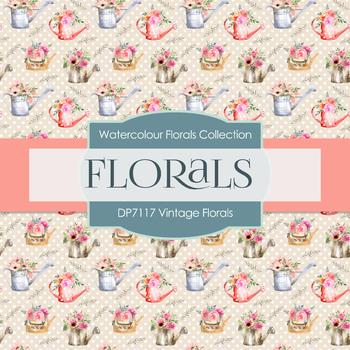 Digital Papers - Vintage Florals (DP7117)