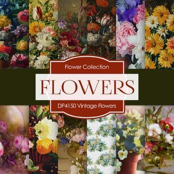 Digital Papers - Vintage Flowers (DP4150)
